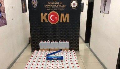 Mersin'de 700 litre sahte alkol ele geçirildi
