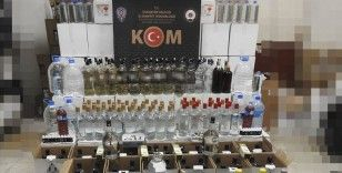Eskişehir'de 477 litre sahte ve kaçak içki ele geçirildi