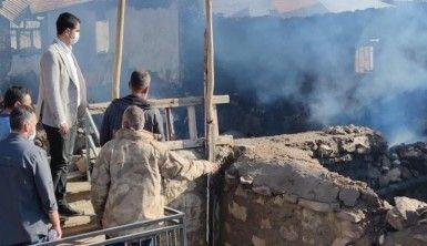 Tunceli'de 4 ev yandı, yaraların sarılması için çalışma başlatıldı