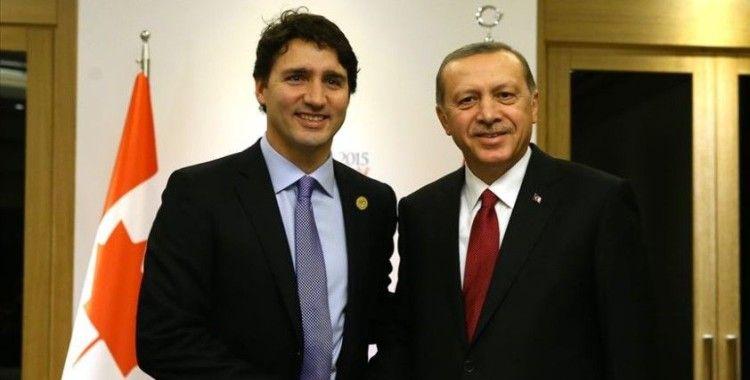 Cumhurbaşkanı Erdoğan, Kanada Başbakanı Trudeau ile telefonda görüştü