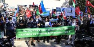Başkentte Fransa'nın Karabağ ile ilgili tutumu protesto edildi