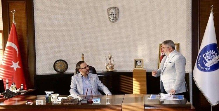 Bakan Kasapoğlu'dan Çorum Belediyesi'ne ziyaret
