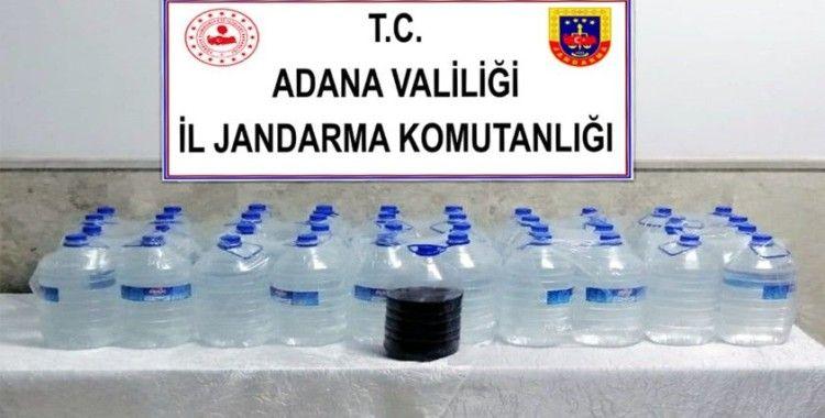 Kozan'da 200 litre sahte içki ele geçirildi