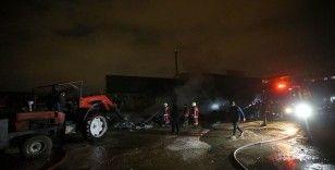 Başkentte sanayi sitesinde çıkan yangın hasara neden oldu