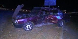 Taziyeden dönen aile kaza yaptı: 5 yaralı