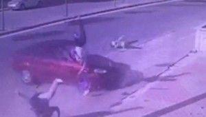 Baba ve oğlunun öldüğü kaza kamerada