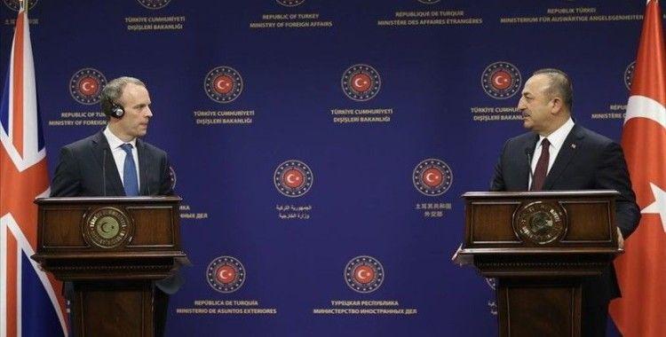 Dışişleri Bakanı Çavuşoğlu İngiliz mevkidaşı Raab ile görüştü
