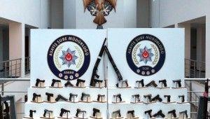 Adana'da 101 silah ele geçirildi