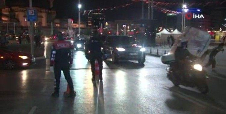 Taksim'de helikopter destekli huzur uygulaması