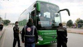 Doğu Marmara ve Batı Karadeniz'de toplu ulaşım araçlarında sosyal mesafe denetimi yapıldı