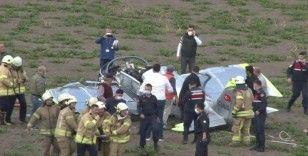 Düşen uçaktan bir kişi çıkarıldı