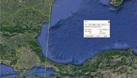 Halkalı karabatak Romanya'dan Türkiye'ye 500 kilometre uçarak geldi