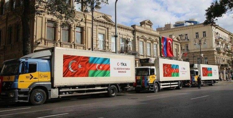 TİKA'dan cephe hattındaki Azerbaycanlı sivillere gıda yardımı