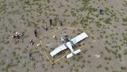 Büyükçekmece'de eğitim uçağı düştü
