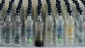 İstanbul'da 2,5 ton sahte içki ele geçirildi
