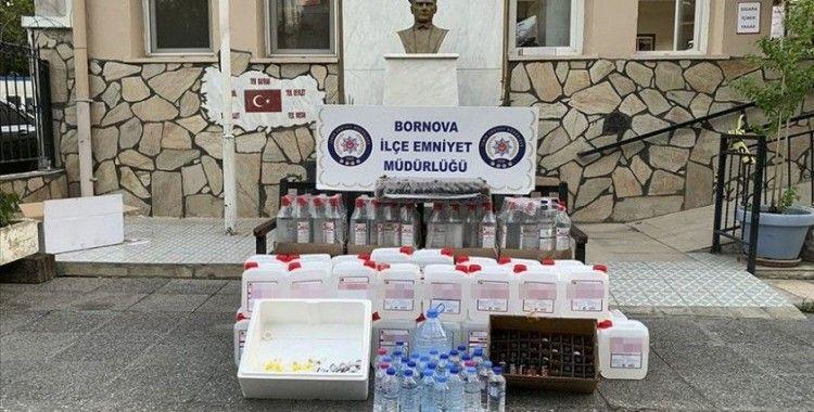 İzmir'de sahte içki satışı yapılan kokoreççiye operasyon