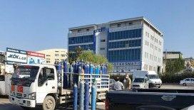 Başkent'te başlıkları kopan oksijen tüpleri dükkanlara fırladı: 1 yaralı