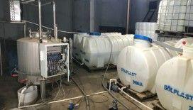 Sultangazi'de sahte alkol imalathanesine baskın: 4 buçuk ton etil alkol ele geçirildi