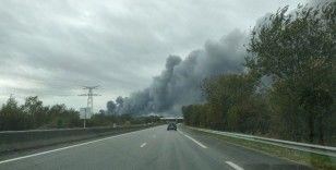 Fransa'da 8 bin metrekarelik depoda yangın