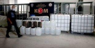İçişleri: Bu yıl 11 milyon 20 bin 819 litre ile 220 bin 911 şişe sahte/kaçak içki ele geçirildi