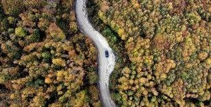 Kütahya'daki Boyalı Dağı sonbaharda ayrı bir güzelliğe büründü