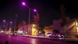 Sokak lambaları pembe yandı