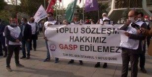 Bakırköy Belediyesi çalışanları 11'inci eylemlerini gerçekleştirdi
