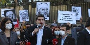 Fransa Büyükelçiliği önünde eylem