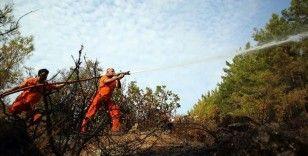 Anamur'daki orman yangını bölgesinde soğutma çalışmaları sürüyor