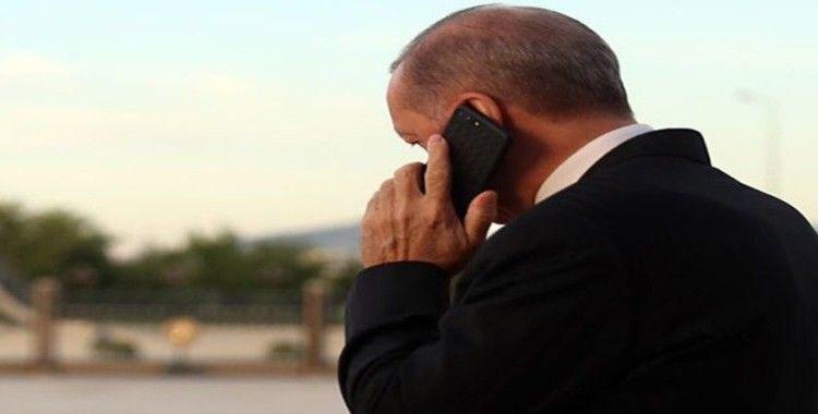 Cumhurbaşkanı Erdoğan,  Es-Serrac ile telefonla görüştü