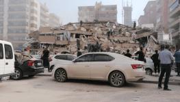 İzmir'de meydana gelen depremden ilk görüntüler