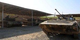 Azerbaycan ordusu Ermenistan'ın tank ve toplarını imha etti