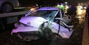 Basın Ekspres yolunda zincirleme kaza: 1'i ağır 3 yaralı