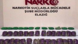 Elazığ'da 41 kilo 750 gram eroin ele geçirildi