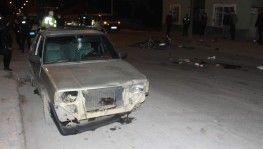 Konya'da motosikletle otomobil çarpıştı