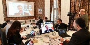 7 büyük ilin belediye başkanları video konferansla bir araya geldi