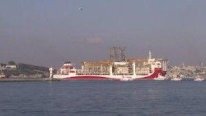 Kanuni sondaj gemisi Karadeniz'e uğurlanıyor