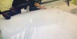 İstanbul'da dehşet anları kamerada: Genç kadını sünger kurtardı