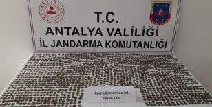 Antalya'da Roma dönemine ait 1547 adet sikke ele geçirildi