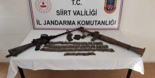 Siir'te PKK'lı teröristlere ait mühimmat ele geçirildi