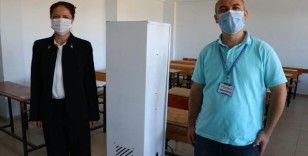 Öğretmenler hijyenik yaşam için 'hava sterilizasyonu' üretti