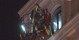 Şişli'de otelde yangın paniği