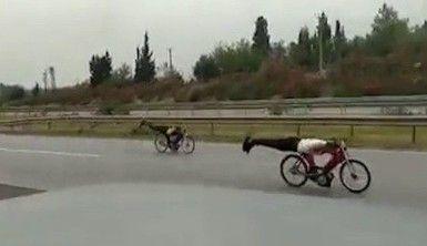 Otoyolda motosiklet yarışına 9 bin 750 lira ceza