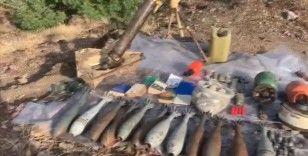Irak'ın kuzeyindeki Hakurk bölgesinde PKK'ya ait mühimmat ele geçirildi