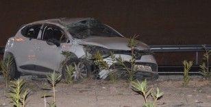 İzmir'de otomobil takla attı: 1 ölü