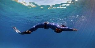 Serbest dalışçı Fatma Uruk'tan 3 günde 3 dünya rekoru