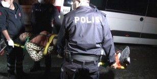 Korona partisine baskın: Kaçan 2 kişi merdivenden düşerek yaralandı