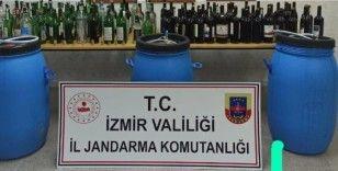 İzmir'de 890 litre kaçak içki ele geçirildi