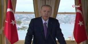 Cumhurbaşkanı Erdoğan'dan G-20 Liderler Zirvesi'ne görüntülü mesaj