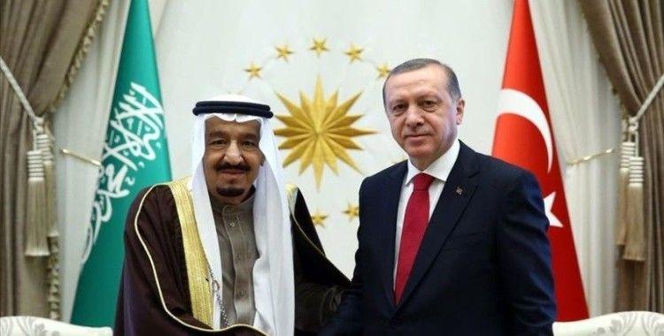 Cumhurbaşkanı Erdoğan, Suudi Arabistan Kralı Selman ile telefonda görüştü
